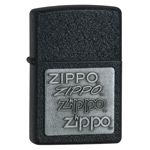 Зажигалка Zippo 363 Pewter Emblem Black Crackle