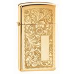Зажигалка Zippo 1652B High Polish Brass Venetian Slim