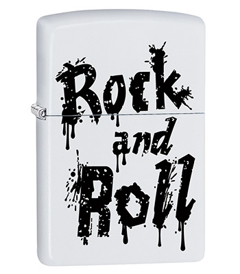 яЗажигалка Zippo 29538 Rock and Roll White Matte