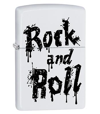 яЗажигалка Zippo 29538 Rock and Roll White Matte