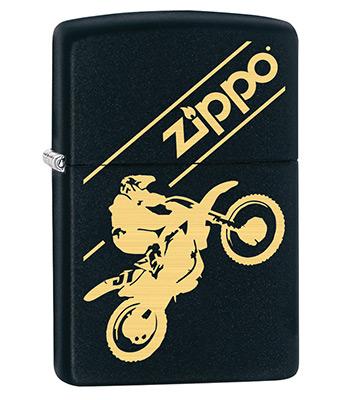 яЗажигалка Zippo 29528 Moto Cross Black Matte