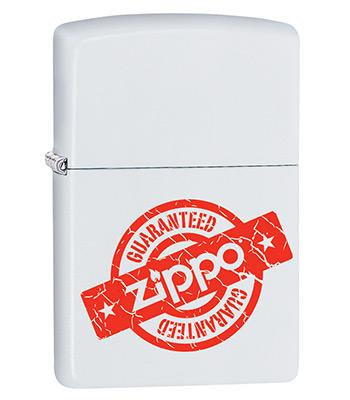 Зажигалка Zippo 29547 Guaranteed White Matte