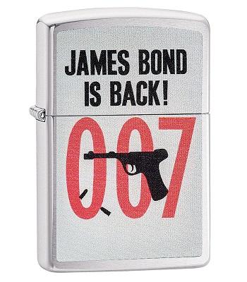Зажигалка Zippo 29563 James Bond Brushed Chrome