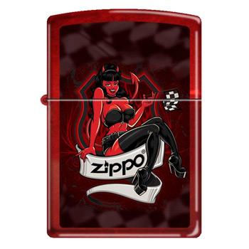 яЗажигалка Zippo 21063 Devil Girl Candy Apple Red