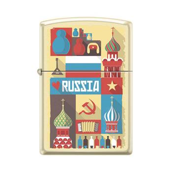 Зажигалка Zippo 216 Russian Postcard
