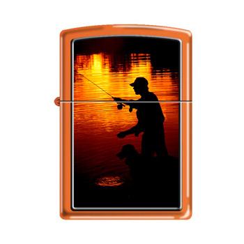 яЗажигалка Zippo 231 Fishing Orange Matte