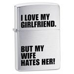 яЗажигалка Zippo 24522 Iove My Girlfriend
