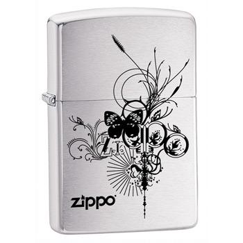 яЗажигалка Zippo 24800 Brushed Chrome
