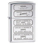 Зажигалка Zippo 28381 Stamped High Polish Chrome