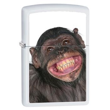 яЗажигалка Zippo 28661 Monkey White Matte