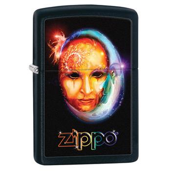 яЗажигалка Zippo 28669 Venetian Mask Black Matte