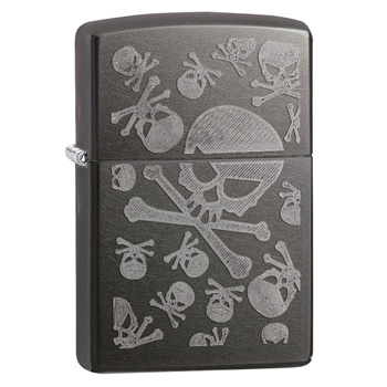 яЗажигалка Zippo 28685 Skulls Gray Dusk