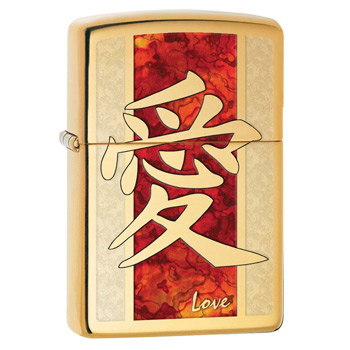 яЗажигалка Zippo 28953 Hieroglyph Love Fusion