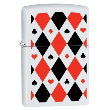 яЗажигалка Zippo 29191 Poker Patterns White Matte