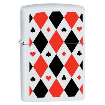 яЗажигалка Zippo 29191 Poker Patterns White Matte