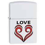 яЗажигалка Zippo 29193 Love Theme White Matte