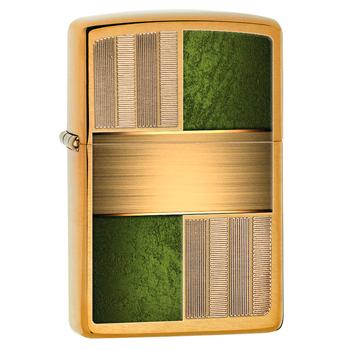 Зажигалка Zippo 28796 Squares Brushed Brass