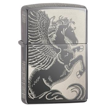 яЗажигалка Zippo 28802 Pegasus Black Ice