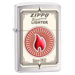 яЗажигалка Zippo 28831 Zippo Card Brushed Chrome