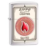 яЗажигалка Zippo 28831 Zippo Card Brushed Chrome