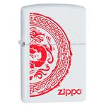 яЗажигалка Zippo 28855 Dragon White Matte