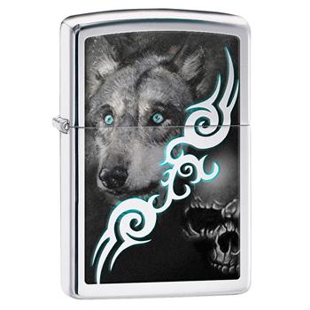 яЗажигалка Zippo 28872 Wolf High Polish Chrome