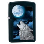 яЗажигалка Zippo 28879 Moon Wolf Black Matte