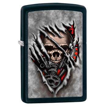 яЗажигалка Zippo 28882 Steampank Skull Black Matte