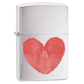 яЗажигалка Zippo 29068 Heart Brushed Chrome
