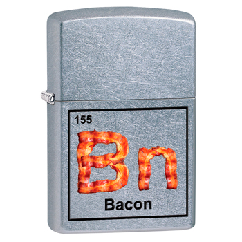 яЗажигалка Zippo 29070 Bacon Street Chrome