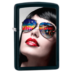 яЗажигалка Zippo 29090 New York Sunglasses Black Matte