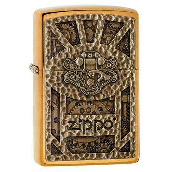 Зажигалка Zippo 29103 Steampunk Brushed Brass