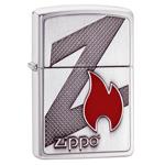 яЗажигалка Zippo 29104 Z Brushed Chrome