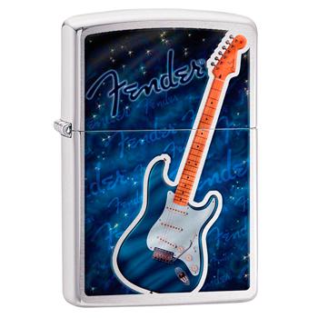 яЗажигалка Zippo 29128 Fender Brushed Chrome