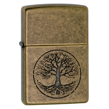 Зажигалка Zippo 29149 Tree Of Life Antique Brass