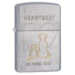 яЗажигалка Zippo 29258 Heartbeat Linen Weave