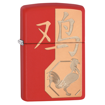 Зажигалка Zippo 29259 Year Of The Rooster Red Matte