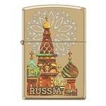Зажигалка Zippo 254B Россия High Polish Brass