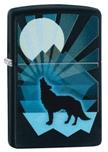 Зажигалка Zippo 29864 Wolf and Moon Design Black Matte