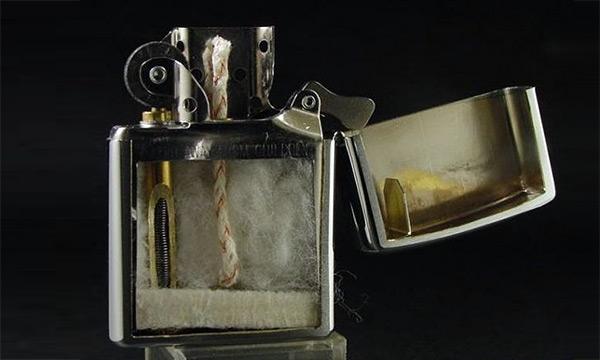 Зажигалка Zippo в разрезе
